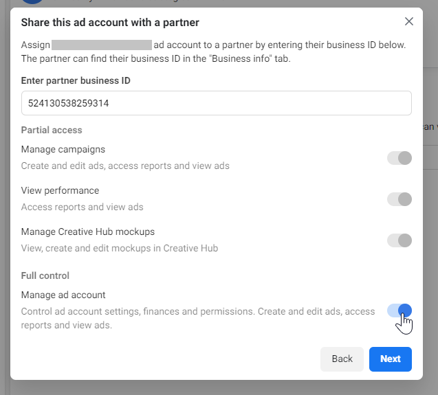Ad Account Permissions - Business Settings