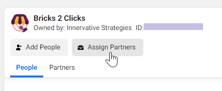 Assign Partners to Page