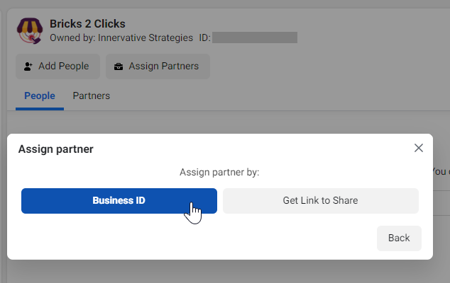 Assign Partner by Business ID