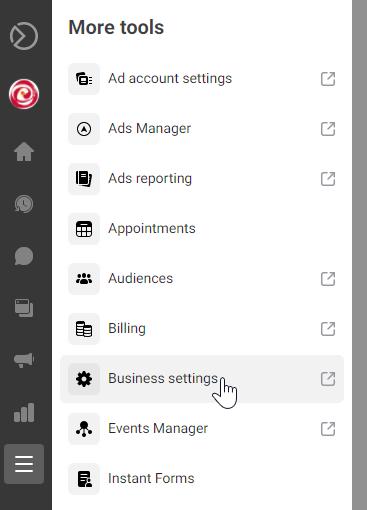 More Tools menu in Facebook Business Suite