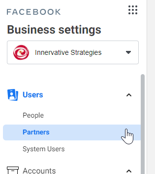 Partners - Users - Business Settings
