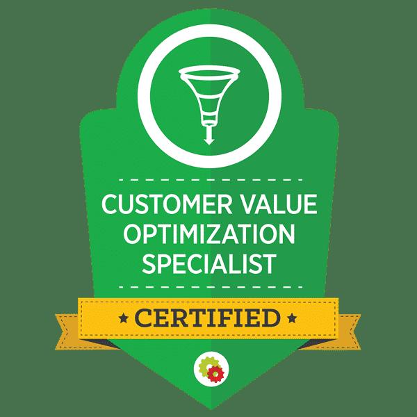 Customer Value Optimization Specialist Badge
